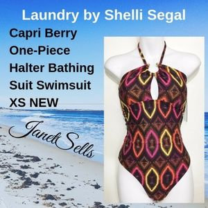 Laundry Shelli Segal XS Capri Berry Bathing Suit